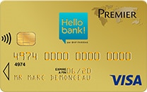 carte visa premier hello bank!