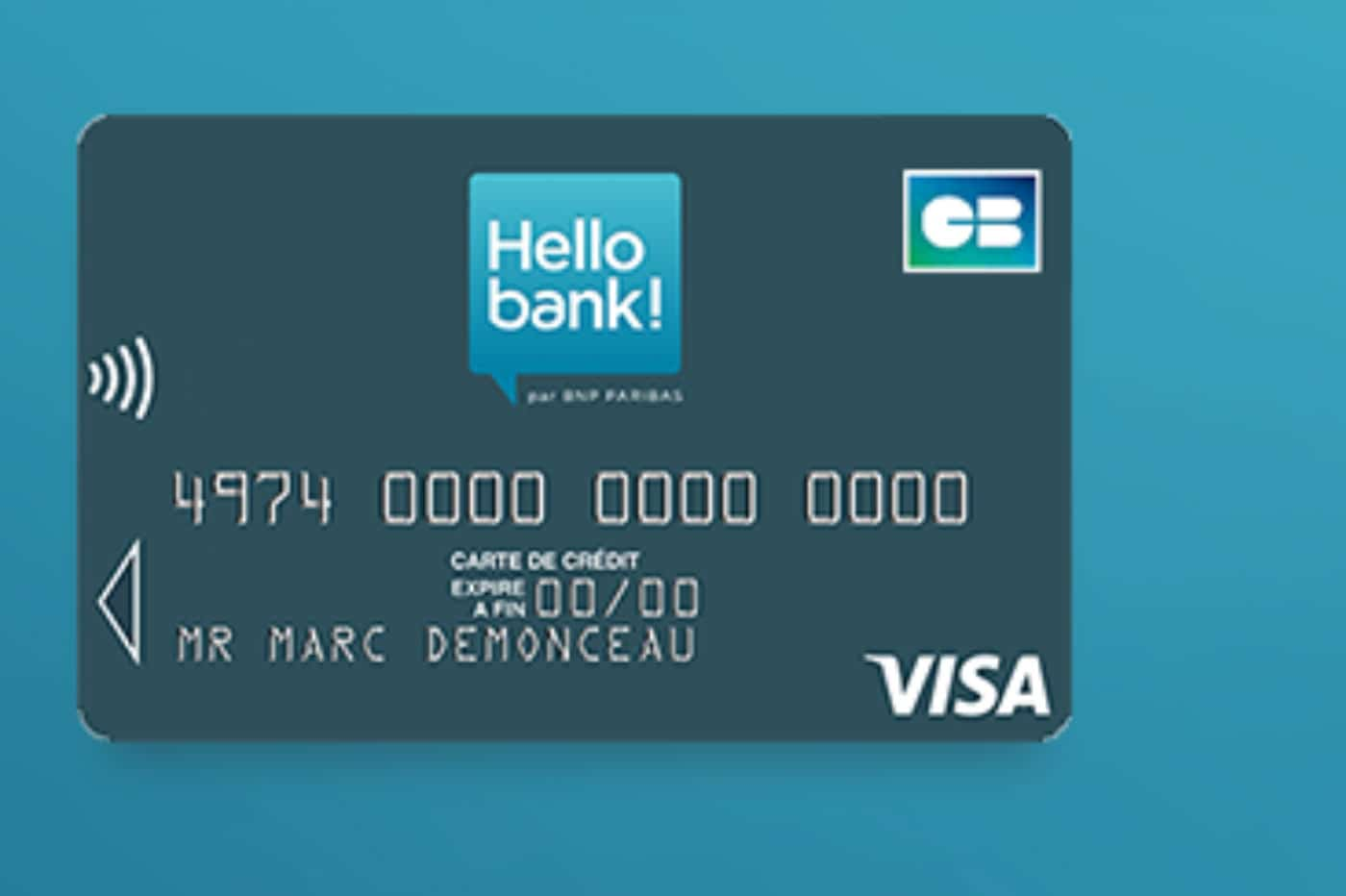 carte visa classic hello bank