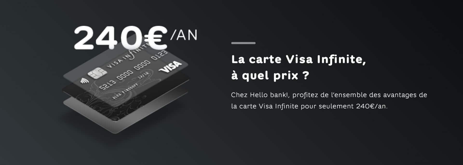 visa infinite hello bank